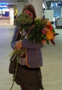 ik met bloemen