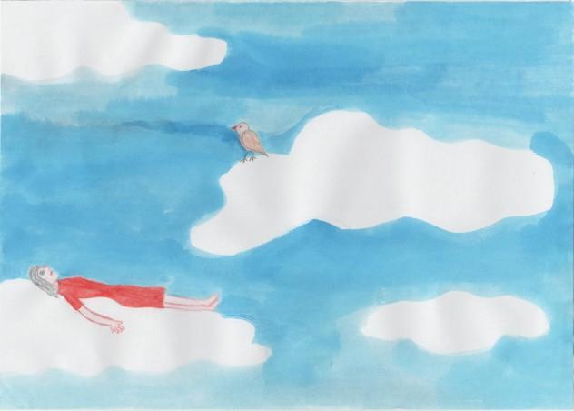 wolken drijven
