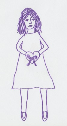 vrouw met hart